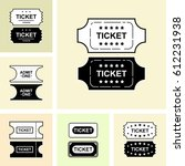 set of ticket icon isolated.... | Shutterstock .eps vector #612231938