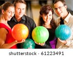 group of four friends in a... | Shutterstock . vector #61223491