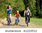 family with child on their... | Shutterstock . vector #61223512