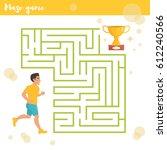 children's labyrinth. vector.... | Shutterstock .eps vector #612240566