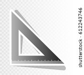 ruler sign illustration. vector.... | Shutterstock .eps vector #612243746