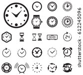 clock icon isolated. time logo  ...   Shutterstock .eps vector #612245096