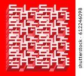 sale banner   different depth... | Shutterstock .eps vector #612246098