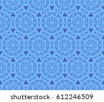 seamless floral pattern with... | Shutterstock .eps vector #612246509