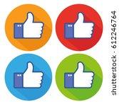 flat hand like icon | Shutterstock .eps vector #612246764