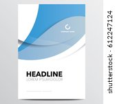 business brochure or annual... | Shutterstock .eps vector #612247124