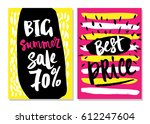 sale cards with beautiful... | Shutterstock .eps vector #612247604