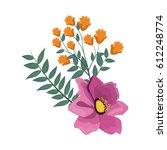 beautiful flowers design | Shutterstock .eps vector #612248774