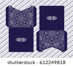vector envelopes for wedding... | Shutterstock .eps vector #612249818