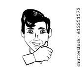 man character posture line   Shutterstock .eps vector #612251573