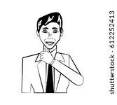 man character posture line | Shutterstock .eps vector #612252413
