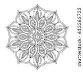 mandala. ethnic round ornament. ... | Shutterstock .eps vector #612263723