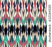 ikat seamless pattern design... | Shutterstock . vector #612264320