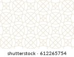 seamless linear pattern with... | Shutterstock .eps vector #612265754