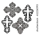 Icons Of  Decorative  Crosses.