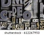 historical letterpress types ... | Shutterstock . vector #612267953