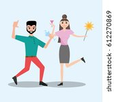 couple dancing together | Shutterstock .eps vector #612270869