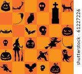 halloween background | Shutterstock .eps vector #61227226