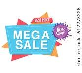 colorful mega sale best price... | Shutterstock .eps vector #612278228