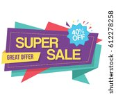 colorful super sale best offer... | Shutterstock .eps vector #612278258