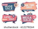 colorful set of  sale banners... | Shutterstock .eps vector #612278264