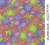 colorful doodle seamless of... | Shutterstock .eps vector #612279770