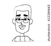 happy man cartoon icon image  | Shutterstock .eps vector #612284663