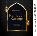ramadan kareem background ... | Shutterstock .eps vector #612284819