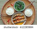 vietnam family lunch set for...   Shutterstock . vector #612285884
