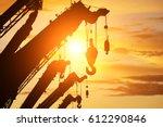 Silhouette Crane Truck In Flare ...