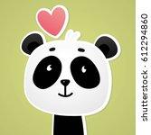 Panda Vector Print. Love Panda