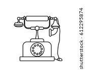 vintage antique telephone | Shutterstock .eps vector #612295874