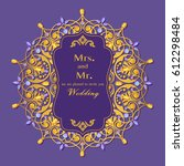 wedding invitation or card with ... | Shutterstock .eps vector #612298484