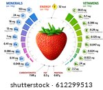 vitamins and minerals of garden ... | Shutterstock . vector #612299513