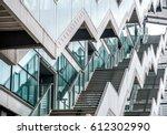 zig zag stairs modern glass... | Shutterstock . vector #612302990