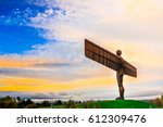 the angel of the north a steel... | Shutterstock . vector #612309476