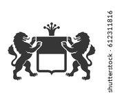 coat of arms. heraldic lions... | Shutterstock .eps vector #612311816