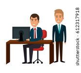 businesspeople in training... | Shutterstock .eps vector #612317918