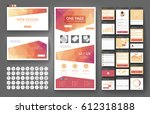 website template  one page... | Shutterstock .eps vector #612318188
