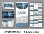 website template  one page... | Shutterstock .eps vector #612318269