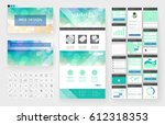 website template  one page... | Shutterstock .eps vector #612318353