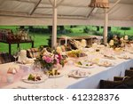 beautiful wedding decor | Shutterstock . vector #612328376