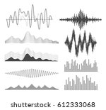 equalizer icons set | Shutterstock .eps vector #612333068