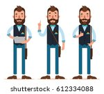 businessman characters. three... | Shutterstock .eps vector #612334088