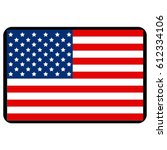 vector illustration of usa flag | Shutterstock .eps vector #612334106