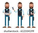 businessman characters. three... | Shutterstock .eps vector #612334199