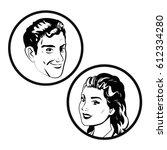 couple comic pop art image | Shutterstock .eps vector #612334280