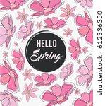 spring flowers background ... | Shutterstock .eps vector #612336350
