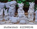 doll stucco in the garden | Shutterstock . vector #612348146