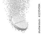 effervescent medicine. fizzy...   Shutterstock . vector #612354584